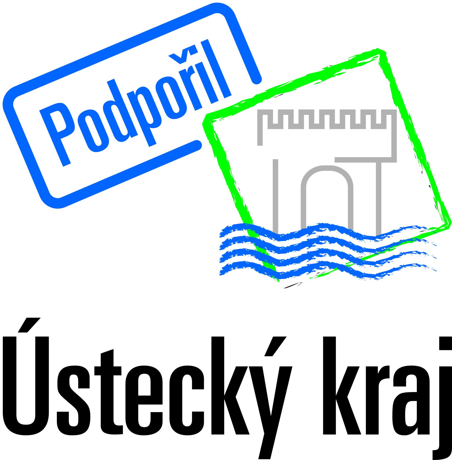 modré logo: Dotace a granty: Ústecký kraj